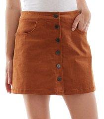 bcx juniors' button-up mini skirt