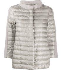 herno crop sleeved padded jacket - grey