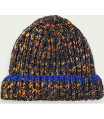 scotch & soda multicolour wool-blend chunky beanie