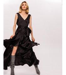 sukienka maxi asymetryczna