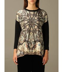 etro sweater etro sweater in printed wool and silk blend