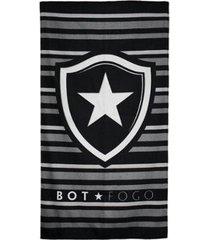toalha de banho bouton botafogo felpuda 70 x 1,30 cm