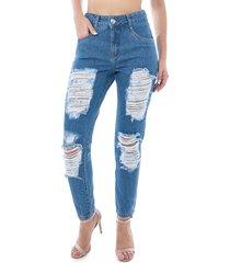 calça pkd mom destroyed jeans