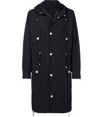 balmain buttoned long sleeved jacket - black