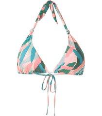 track & field maldivas abstrata printed bikini top - pink