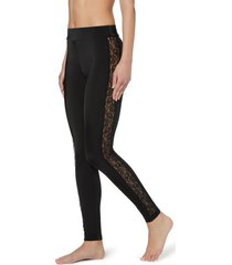 calzedonia patterned lace leggings woman black size s