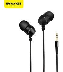 audífonos, q8 super deep estéreo nylon atado con alambre auriculares en el oído de metal para el teléfono reproductores de mp3 3.5mm jack para sony iphone samsung (negro)