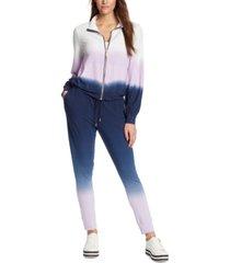 skinnygirl pauly zippered ombre sweatshirt