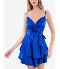 b darlin juniors' surplice a-line dress
