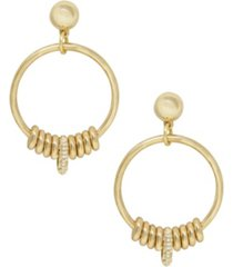 ettika 18k gold multi-ring slider women's earrings