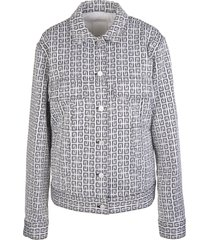givenchy woman 4g jacquard jacket with denim effect