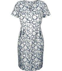 jurk alba moda zilverkleur::blauw