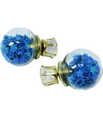 aretes topo cristal estrellas azules  ar-10970