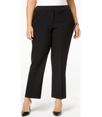kasper plus size straight-leg modern dress pants