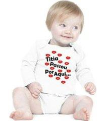 body bebê frases engraçadas e divertidas madrinha dinda titia manga longa criativa urbana