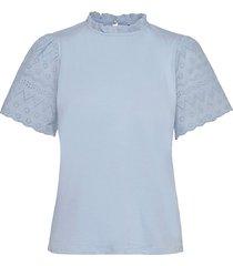 viselva crochet t-shirt blouses short-sleeved blå vila