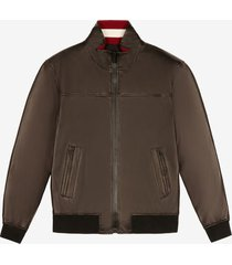 leather bomber jacket brown 54