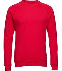 cotton rib stelt sweat-shirt tröja röd mads nørgaard