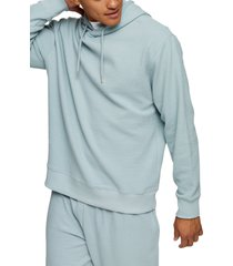 men's topman waffle stitch pullover hoodie, size x-small - blue