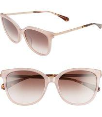 women's kate spade new york britton 55mm cat eye sunglasses - pink/ brown
