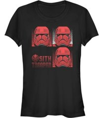 star wars women's rise of skywalker sith trooper helmet box up t-shirt