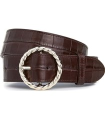 leo twisted circle belt buckle