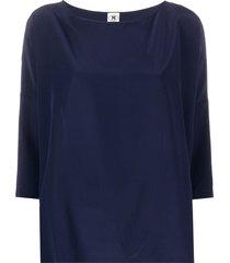 m missoni boat-neck silk blouse - blue