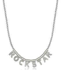 nomination designer necklaces, sterling silver and swarovski zirconia rockstar necklace