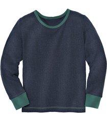 shirt met lange mouw van bourette zijde, blauw 98/104