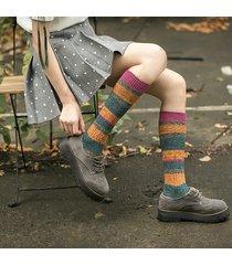 calze da donna in cotone traspirante patchwork harajuku calze elastiche stile calzetteria