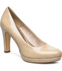 woms court shoe shoes heels pumps classic beige tamaris