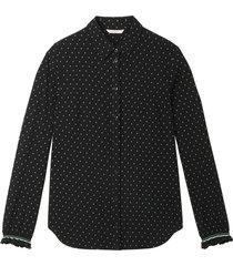 sandwich 22001729 80041 blouse woven long sleeves zwart
