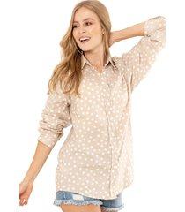 camisa oversize pepas beige ragged pf11112207