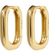 women's luv aj chain link huggie hoop earrings