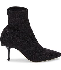 glitter heeled booties