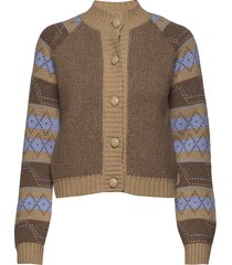 knit pattern gebreide trui cardigan multi/patroon ganni