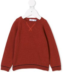 knot basic sweater - red