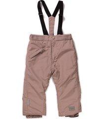 olaus winterpants girls outdoor-and snowpants brun marmar cph