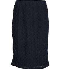 skirt medium length classic knälång kjol blå betty barclay