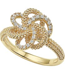 lagos 'love knot' diamond ring, size 7 in gold at nordstrom