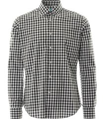 none of the above oxford shirt check | black check | notabrz-blk
