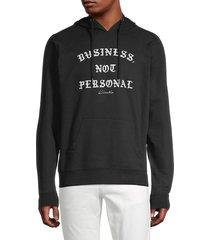kinetix men's business not personal hoodie - black - size l