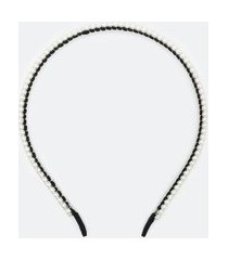 tiara fina com pérolas | accessories | branco | u