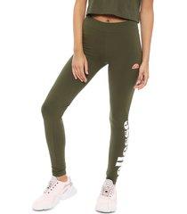 legging ellesse solos2 verde - calce ajustado