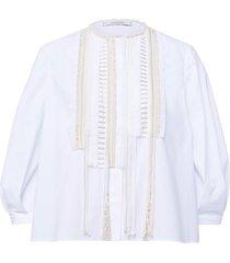 poplin power blouse in pure white
