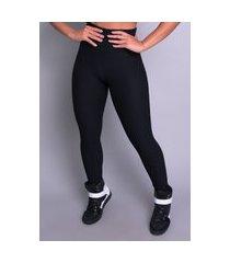 calça legging mvb modas feminina cintura alta bolha preto