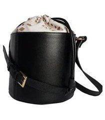 bolsa couro house of caju estruturada alta qualidade prática balde feminina
