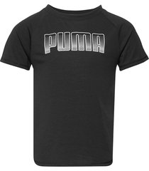 runtrain tee g t-shirts short-sleeved svart puma