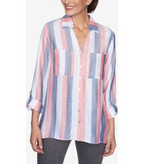 ruby rd. women's missy vertical stripe top