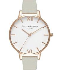 reloj análogo gris olivia burton